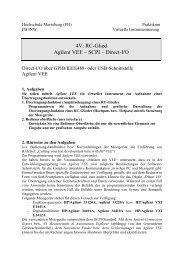 RC-Glied Agilent VEE – SCPI - IKS - Hochschule Merseburg