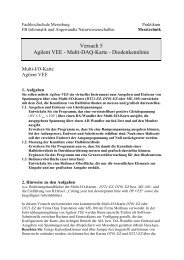 Versuch 5 Agilent VEE - Multi-DAQ-Karte - Diodenkennlinie - IKS