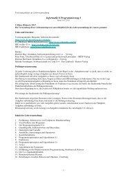 Informatik I/ Programmierung I - IKS