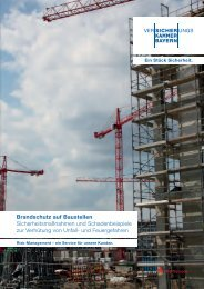 Brandschutz auf Baustellen PDF - Versicherungskammer Bayern