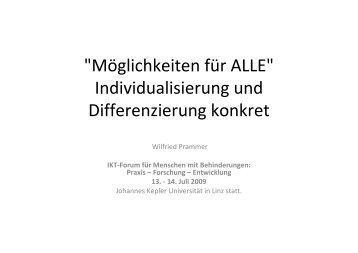 (Microsoft PowerPoint - M\366glichkeiten f\374r ALLE - Prammer IKT ...