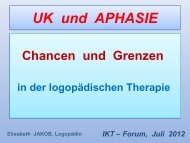 UK und APHASIE - IKT Forum
