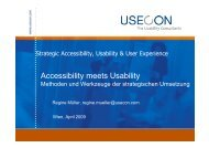 Accessibility meets Usability - IKT Forum