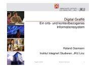 Vortragsunterlagen zu ´Digital Graffiti - IKT Forum