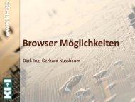 Browser Möglichkeiten - IKT Forum
