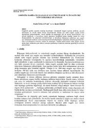 Lojistik Harita ile Rasgele Sayı Üretilmesi ve İstatistiki Yöntemlerle ...