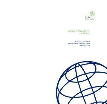 Ausbildung zum interkulturellen Trainer (m/w) - IKUD Seminare