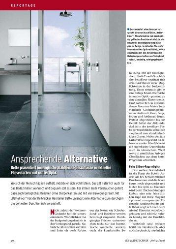 Ansprechende Alternative - IKZ-Haustechnik