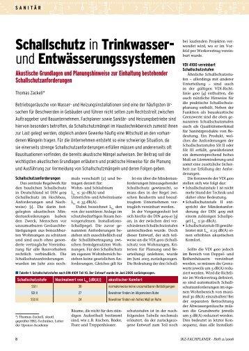 Schallschutz in Trinkwasser- und ... - ikz-energy