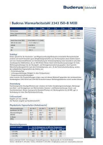 l 2343 ISO-B MOD - Buderus Edelstahl GmbH