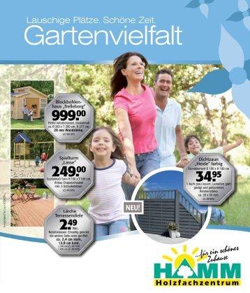 Angebote Garten 2013 - HOLZFACHZENTRUM HAMM
