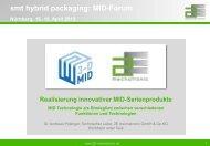 Pojtinger, A. - Realisierung innovativer MID ... - 3-D MID e.V.