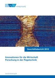 Geschäftsbericht 2012 - DVS