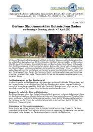 Berliner Staudenmarkt im Botanischen Garten - Botanischer Garten ...
