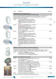 06 Einbauteile aus Kunststoff, Ersatzlampen und ... - Aqua Solar AG
