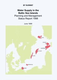 Water Supply in the Baltic Sea Islands Planning ... - IKZM-D Lernen