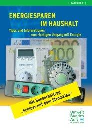 Energiesparen im Haushalt - IKZM-D Lernen