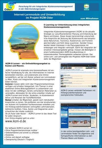 E-Learning und Umweltbildung - IKZM-Oder