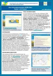 Das Informationssystem IKZM-Oder: Nutzer