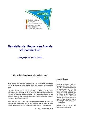 Newsletter Nr. 3-2006 RA Stettiner Haff - IKZM-Oder