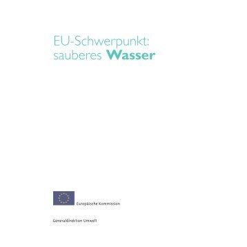 EU-Schwerpunkt: sauberes Wasser