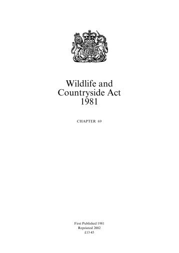 Wildlife and Countryside Act 1981- Introduction - IKZM-D Lernen