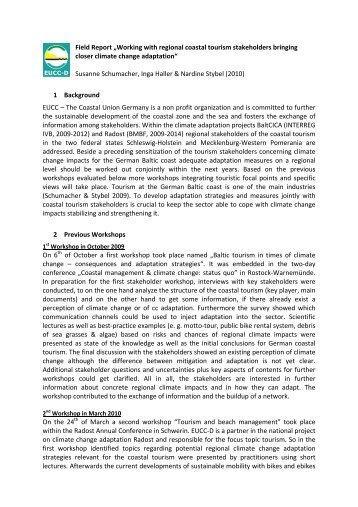 """Field Report """"Working with regional coastal tourism ... - IKZM-Oder"""