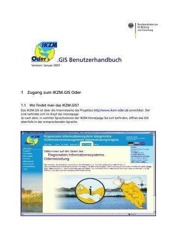 .GIS Benutzerhandbuch - IKZM-Oder