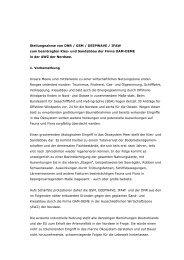 Stellungnahme von DNR / GSM / DEEPWAVE / IFAW - IKZM-D Lernen