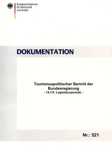 Tourismuspolitischer Bericht der Bundesregierung - Ökologischer ...