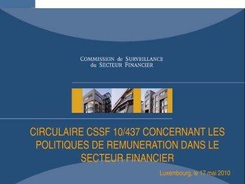 circulaire cssf 10/437 concernant les politiques de ... - ILA