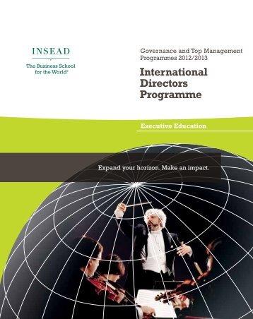 International Directors Programme - ILA
