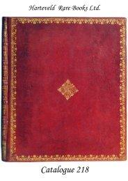 Catalogue 218 - Harteveld Rare Books Ltd.