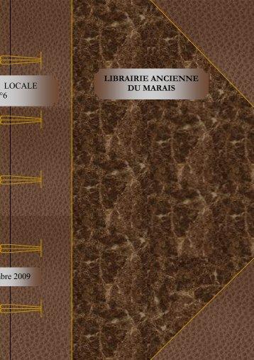 LIBRAIRIE ANCIENNE DU MARAIS HISTOIRE LOCALE n°6 ... - SLAM