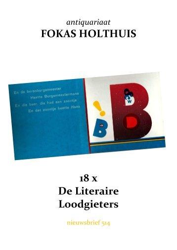 antiquariaat FOKAS HOLTHUIS 18 x De Literaire Loodgieters
