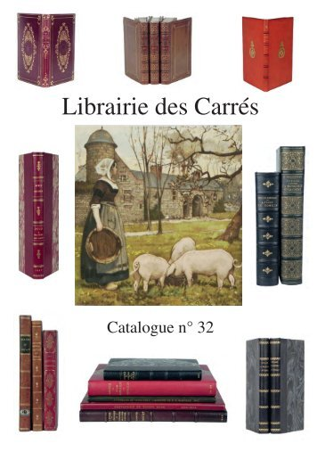 Catalogue n° 32 - Librairie des Carrés