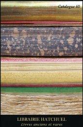 Dernier catalogue - Librairie Hatchuel