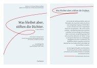 Acht poetische Sonntags-Soireén - Goetheanum