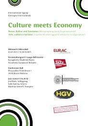 Culture meets Economy - Freie Universität Bozen