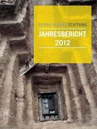 Gerda Henkel Stiftung | Jahresbericht 2012
