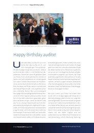 Bericht audite-Jubiläum_FA_MAGAZIN_082013