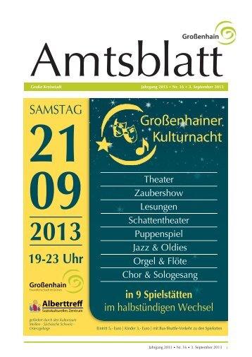 Großenhainer Amtsblatt Nr. 16 vom 03.September 2013