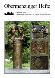 Obermenzinger Hefte 12-2013 - Verein der Freunde Schloss ...