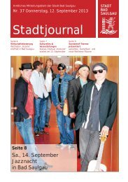 Stadtjournal Ausgabe 37/2013 - Stadt Bad Saulgau
