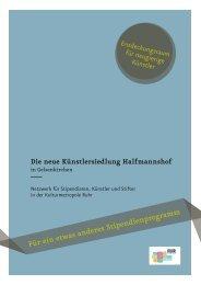 Für ein etwas anderes Stipendienprogramm - Stadt Gelsenkirchen