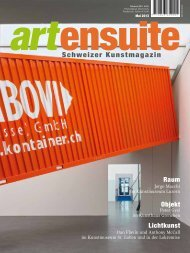 Schweizer Kunstmagazin - Ensuite