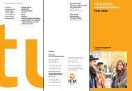 Link zum Studiengangsflyer - an der Hochschule für Technik und ...