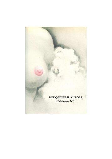 302_BOUQUINERIE AURORE - CATALOGUE N°1.pdf - SLAM