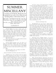 List #92 Summer Miscellany - International League of Antiquarian ...