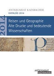 Reisen und Geographie Alte Drucke und bedeutende Wissenschaften